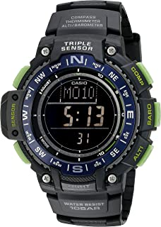 Men's SGW-1000-2BCF Triple Sensor Digital Display Quartz Black Watch