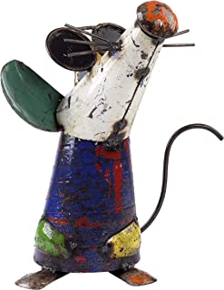 Upcycled Emporium Fresh and Energetic Barnyard Three Blind Mice Doo, Metal Yard Art, Freestanding, Handcrafted from Recycled Scrap Metals, Colors May Vary