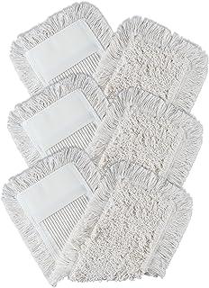 Belland Lot de 3 serpillères en coton pour sols délicats Blanc 40 cm