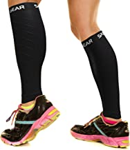 Physix Gear Sport Compression Calf Sleeves for Men & Women (20-30mmhg) - Best Footless Compression Socks for Shin Splints,...
