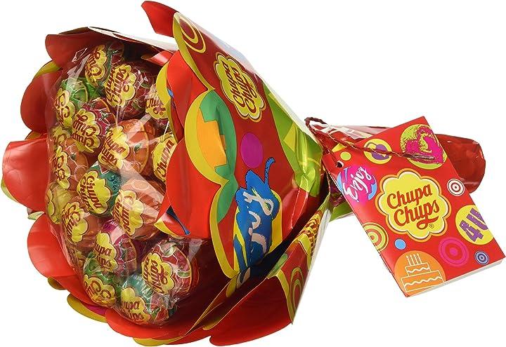 Chupa chups flower bouquet, lollipop gusti frutti assortiti 19 lecca lecca B005J3I4BU