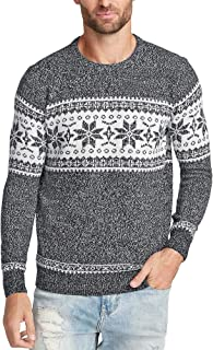 LookbookStore Mens Casual Crewneck Sweater Top Long Sleeve Holiday Knit Pullover