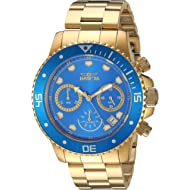 Invicta Men's Pro Diver Quartz Diving Watch with Stainless-Steel Strap, Gold, 22 (Model: 21894)