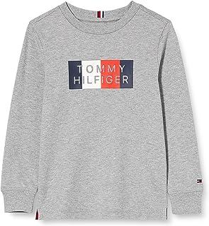 Tommy Hilfiger Global Stripe Graphic tee L/S Camisa para Niños