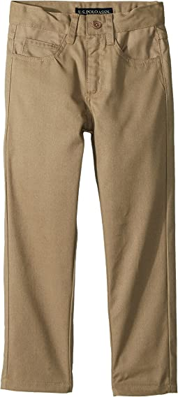 Flat Front Stretch Pants (Little Kids)