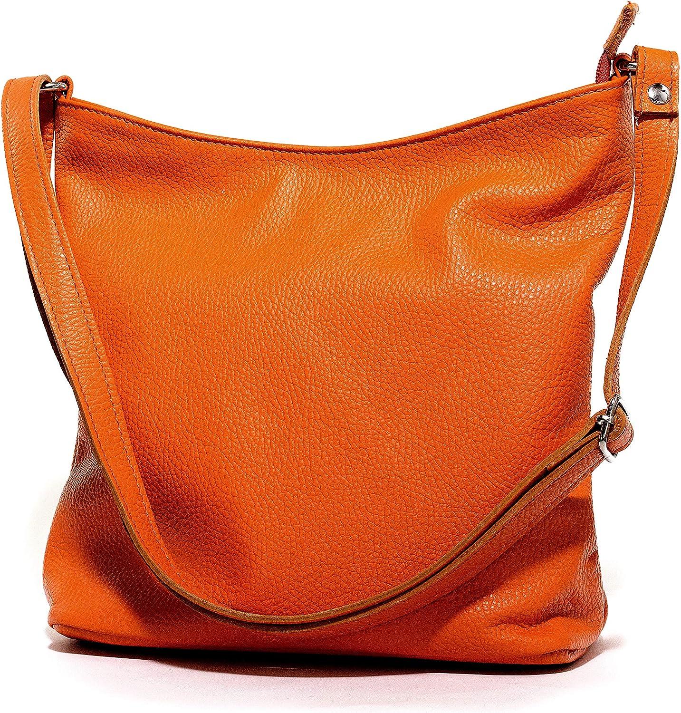 Ital Echt Leder Damentasche Handtasche Ledertache Shopper Shopper Shopper Schultertasche in vielen Farben (Orange) B07P2N38QV  Abgabepreis 9d5f85