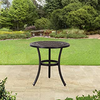 Sunjoy Cahill 28 in. Aluminum Accent Table, Black