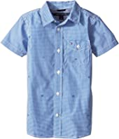 Tommy Hilfiger Kids - Charlie Short Sleeve Plaid Shirt (Toddler/Little Kids)
