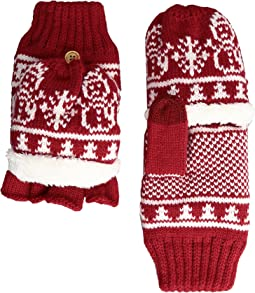 San Diego Hat Company - KNG3476 Snowflake Pop Over Gloves