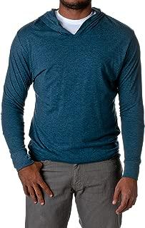 Next Level Apparel Men's Tri-Blend Rib Knit Hoodie, Tahiti Blue