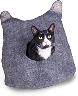 Pet Infinity Cat Cave Cozy Bed, Exclusive Felted Wool