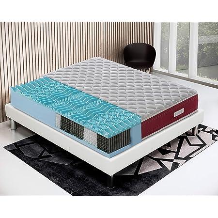 Materasso A Molle Insacchettate E Memory Gel 9 Zone Modello Domo 90x190 Amazon It Casa E Cucina