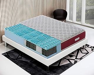Colchón de muelles ensacados y Memory Gel 9 zonas Modelo - Domo (80 x 190 cm)