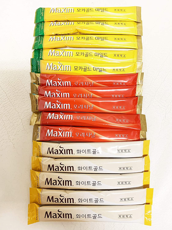 Korean Maxim White Gold Classic Mocha Coffee Original Instant Mild Bargain
