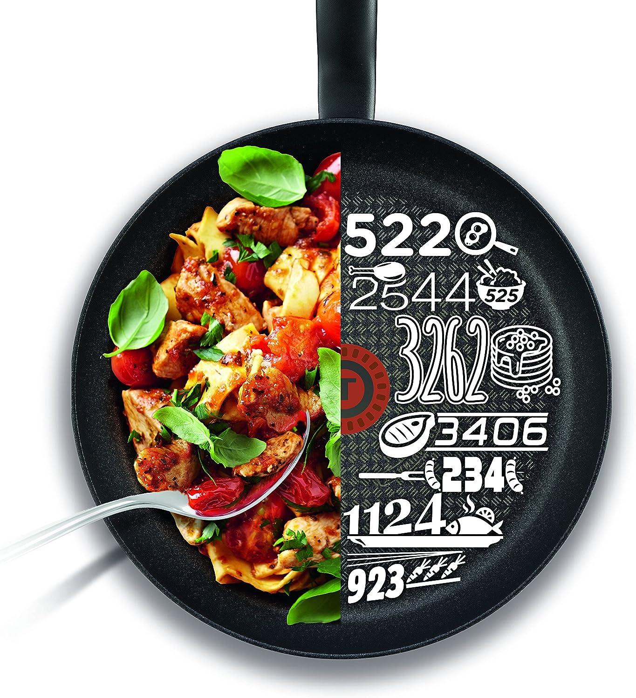 Black Tefal C6963232 Chef Delight Saut/é Pan and Lid 24 cm