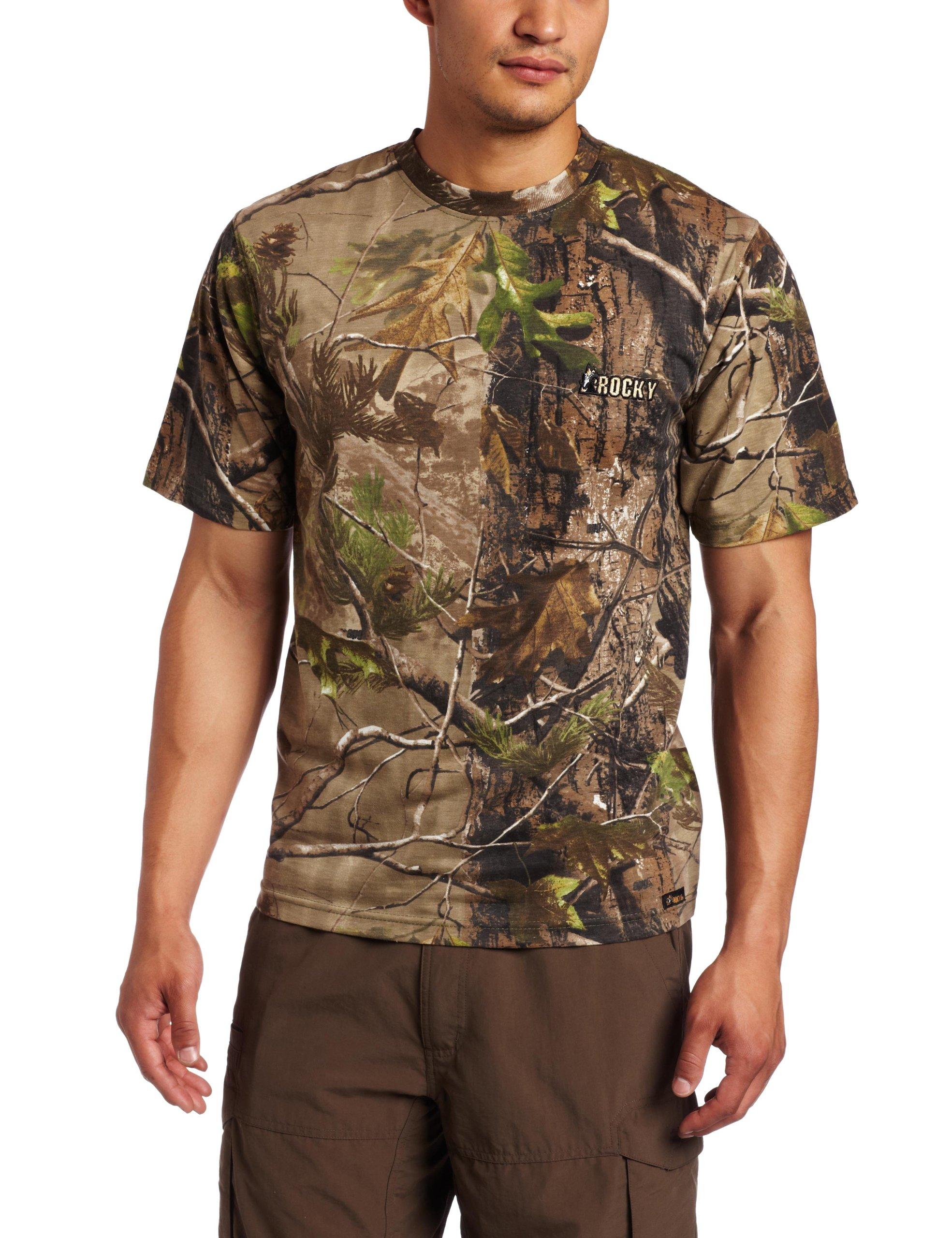 ROCKY Caza Hombres Manga Corta Camiseta, Hombre, Realtree APG: Amazon.es: Deportes y aire libre
