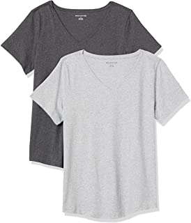Women's 2-Pack Classic-Fit 100% Cotton Short-Sleeve...