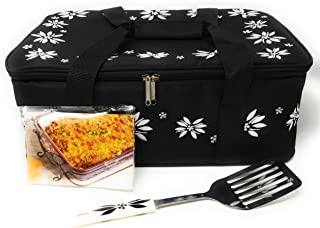 """Temp-tations Insulated Tote Bag ONLY (NO DISH) for the 13""""x9"""" 4 Quart Baker (not included), w/Server & Recipe Cards (Old W..."""
