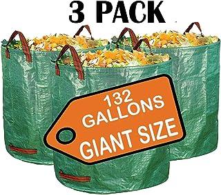 Sun Joe SJLB70HD 70-Gallon Jumbo Heavy-Duty All-Purpose Garden Leaf and Debris Bag Green