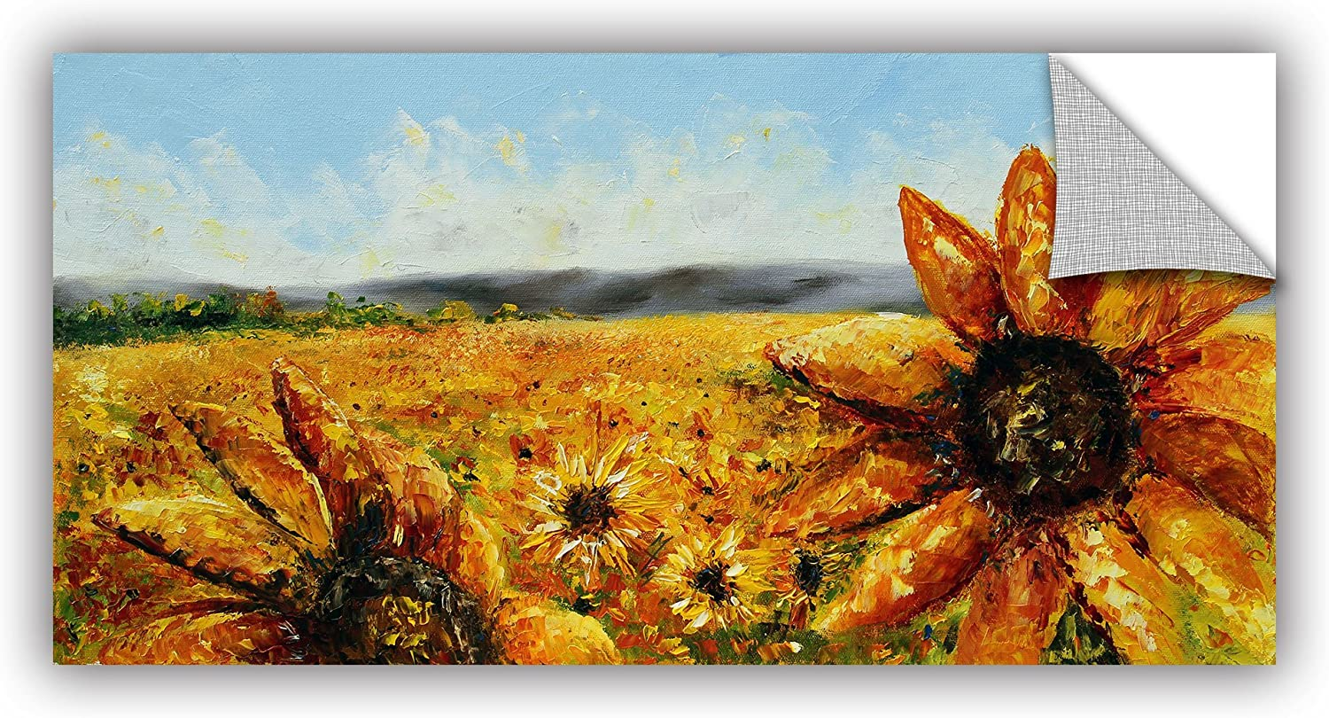 ArtWall 0tro028a1224p Meaghan Troup's Blazing Sun  Removable Wall Art Mural, 12-Inchx24-Inch