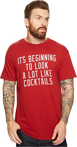 The Original Retro Brand - It's Beginning To Look A Lot Like Cocktails Slub Short Sleeve T-Shirt
