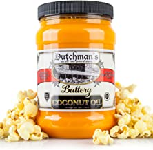 Dutchman's Popcorn Coconut Oil Butter Flavored Oil, 30oz Jar - Colored with Natural Beta Carotene, Makes Theater Style Pop...