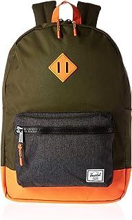 Herschel Kids  Heritage Youth XL Children s Backpack Forest Night Black  Crosshatch Vermillion Orange 761bf1ea62958