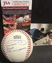 Chris Sale Boston Red Sox Autographed Signed 2018 World Series Baseball Proof JSA WITNESS COA w 2018 WS Champs & DAMAGE DONE!