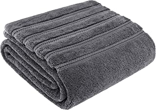 American Soft Linen Premium, Luxury Hotel & Spa Quality, 35x70 Extra Large Jumbo Size Bath Towel, Bath Sheet Cotton for Maximum Softness and Absorbency, [Worth $34.95] (Grey)