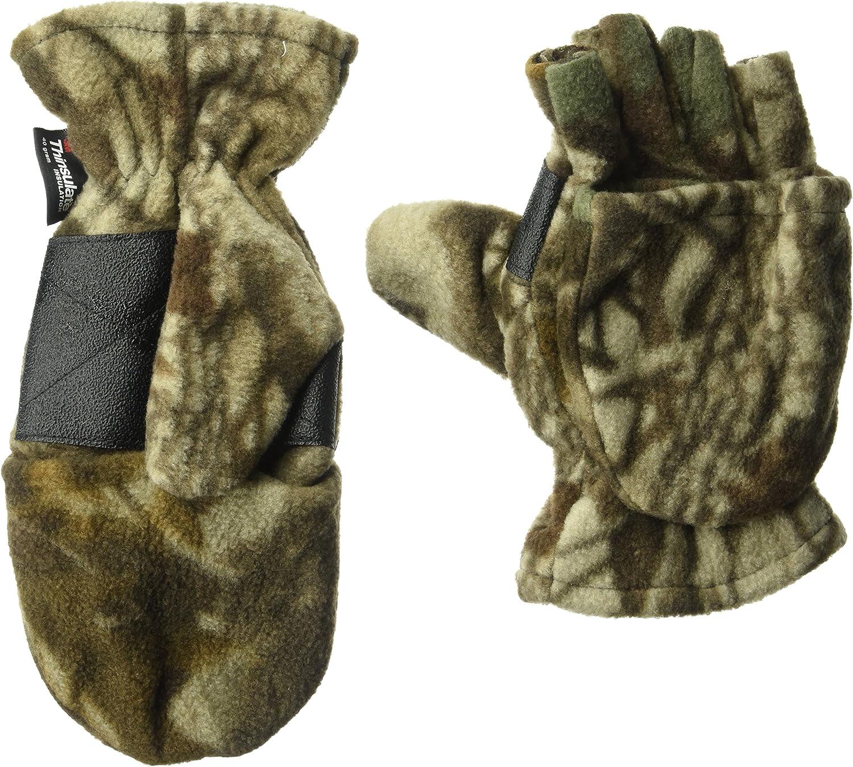 Muk Luks Men's Fleece Flip Mitten-Grey