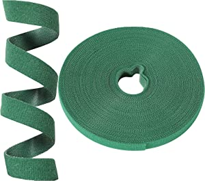 Auuyiil Plant Ties Garden Ties Reusable Nylon Plant Tie Strap ,Tree Ties and Plant Supports for Effective Growing,Grape Tie,Tomato Tie (50 ft x 0.47 Inch, 1 roll,green)