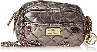 Zeneve London Womens Crossbody Bag, Silver - 1191830491