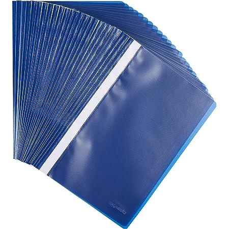 Amazon Basics - Cartelline A4, confezione da 25 pezzi, blu