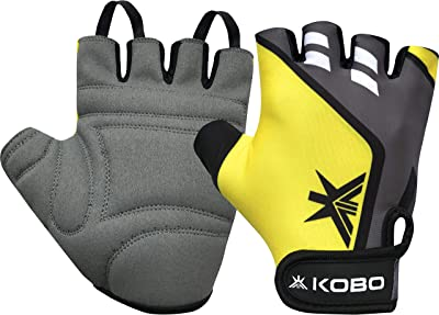 Kobo WTG-28 Weight Lifting Gym Gloves Hand Protector for Fitness Training