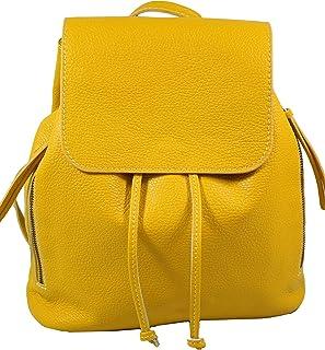 Freyday Ital. Echtleder Damen Rucksack Leichter Tagesrucksack Daypack Lederrucksack Damenrucksack versch. Farben erhältlich