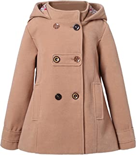 Richie House Girls Flared Top Coat with Trim Size 4-10 RH0936