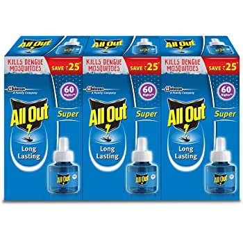 All Out Super 60 Night Triple Refills Pack