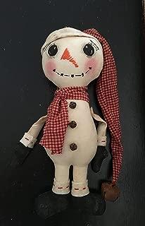 Primitive Folk Art Christmas Snowman