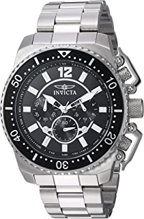 Invicta Men's Pro Diver Quartz Watch with Stainless-Steel Strap, Silver, 24 (Model: 21952)