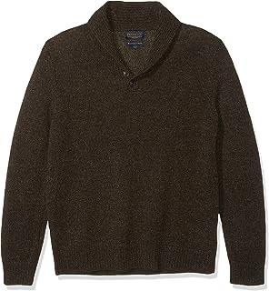Men's Shetland Shawl Collar Pullover Sweater