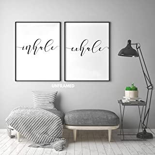 Inhale Exhale Posters, 24 x 36 Inches Prints Unframed