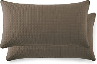 Southshore Fine Linens - VILANO Springs - Pair of Quilted Pillow Sham Covers (No Inserts), 20
