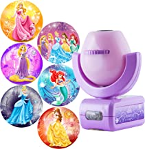 Projectables Disney Princess 6-Image LED Night Light Projector, Dusk-to-Dawn Sensor, Project Princesses Cinderella, Ariel,...