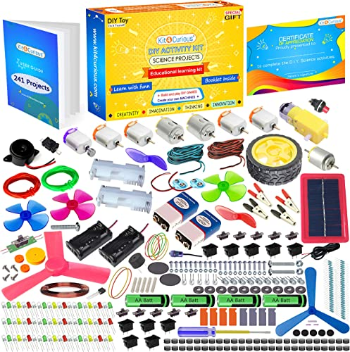 Kit4Curious Science and Fun DIY Activity Learning Educational Stem Tinkering Experiment School Project Innovation Kit Toy for 7 Years Multicolour