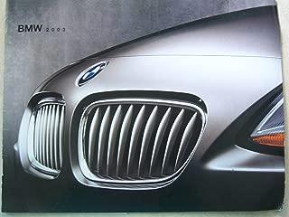 2003 BMW Original Sales Brochure 540i 325i X5 Z3