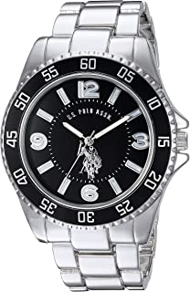 Men's Silver-Toned Watch with a Black Dial, Automatic...