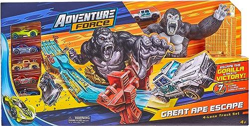 popular Adventure new arrival Force Ape Escape Track Set with 5 high quality Bonus Cars online