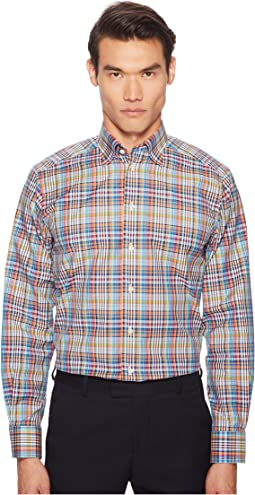 Contemporary Fit Madras Plaid Shirt