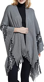 Spicy Sandia Ponchos for Women Knit Open Front Poncho Cape Blanket Shawl Oversize Wrap