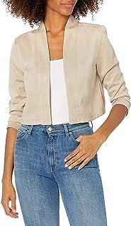Calvin Klein Women's Three Quarter Sleeved Suede Shrug